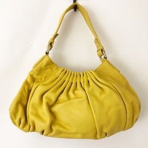 Kenneth Cole Bright Yellow Leather Bag